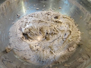 Chocolate Zucchini Space Cake Batter